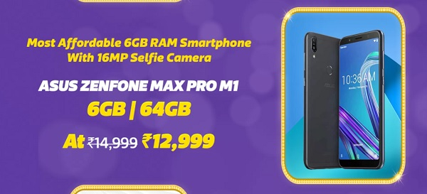 Flipkart Big Billion Days Sales Offer On Asus Zenfone Max Pro M1 & 5z